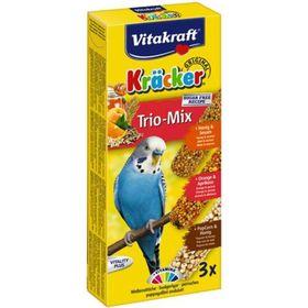 Крекеры VITAKRAFT для  волнистых попугаев мед/кукуруза/апельсин, 3 шт/упаковка