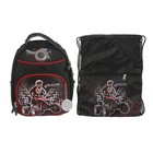Рюкзак каркасный Luris Джерри 6 38x27x20 см + мешок для обуви, для мальчика, «Квадро»