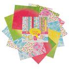 Набор бумаги для скрапбукинга «Сочное лето», 12 листов, 30,5 х 30,5 см, 180 г/м