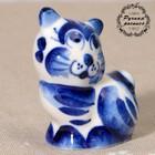 """Souvenir ceramic """"cat b/x"""" 6x4 cm"""