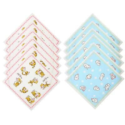 Платки носовые детские Этель Зоопарк (набор 12 шт. ), 100% хлопок