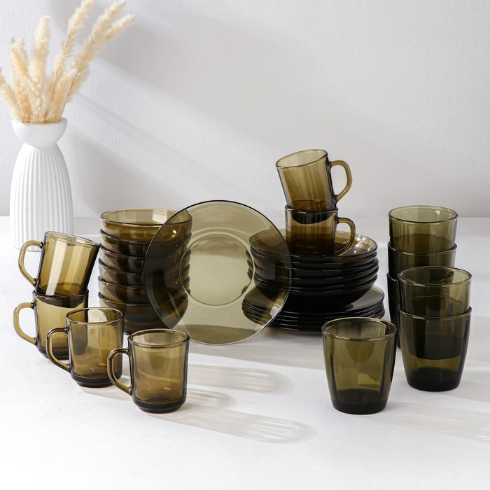 "Сервиз столовый ""Basilico. Дымка"" Ca del Vetro, 30 предметов"