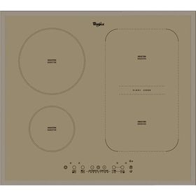 Варочная поверхность Whirlpool ACM 808/BA/S, индукционная, 4 конфорки, бежевый