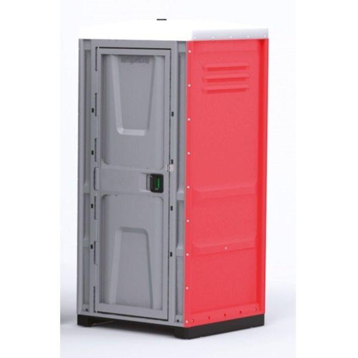 Туалетная кабина, жидкостная, разборная, 225 х 100 х 100 см, 250 л, красная