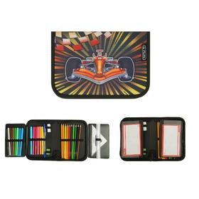 Pencil case 1 section folding 2 levels, 140 x 205, with filling, Herlitz fabric, 31 pieces, Formula