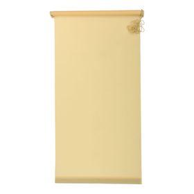 Штора-ролет «Комфортиссимо», размер 140x160 см, цвет жёлтый