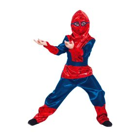"""Детский карнавальный костюм """"Синий паучок"""", р-р 32, рост 122-128 см"""