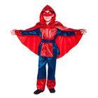 """Карнавальный костюм """"Паутинка"""", р-р 28, рост 104 см, цвет красно-синий"""