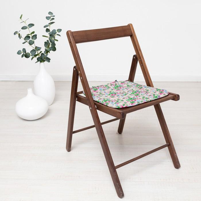 Чехол на стул с завязками «Полевые цветы», 35х38 см, бязь
