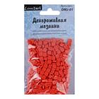 Декоративная мозаика красная, 5 мм, 50 г