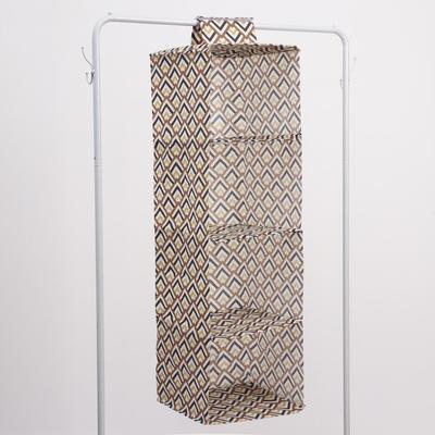 Кофр подвесной «Чёрное золото», 4 отделения, 28×28×95 см