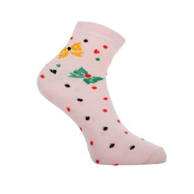 Носки женские высокие, цвет розовый, размер 25 Ош