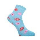 Носки женские высокие, цвет голубой, размер 25