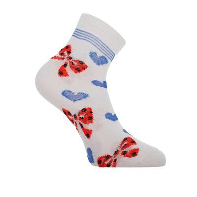 Носки женские высокие, цвет белый, размер 23