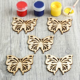 A set of pieces for creativity Butterfly, 5 PCs