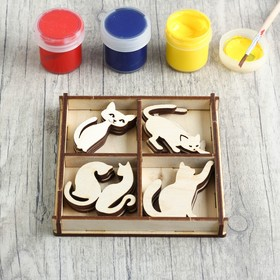"""A set of pieces for creativity """"Seals"""", 4, 12 PCs, size 4x4 cm"""