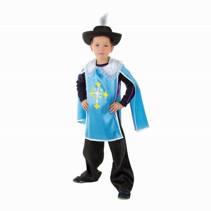 """Детский карнавальный костюм """"Мушкетёр"""", рост 140-152 см, цвет голубой"""