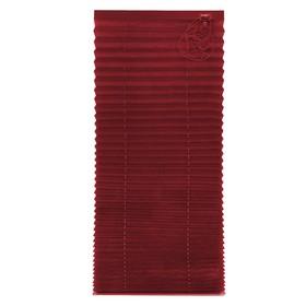 Штора плиссе, размер 65х160, цвет бордо