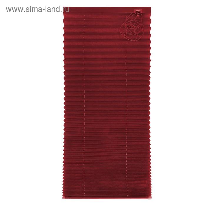 Штора плиссе 70х160, цвет бордо