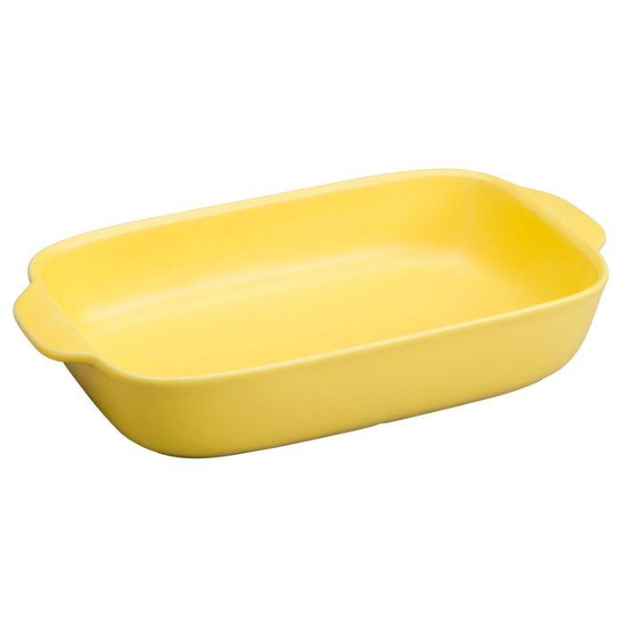 Форма для запекания прямоугольная, 2.8 л, цвет желтый