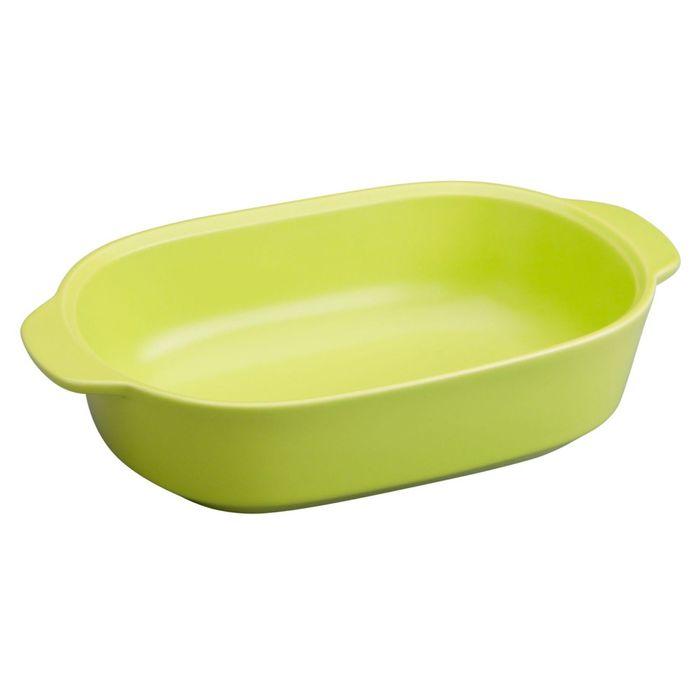 Форма для запекания прямоугольная, 1.4 л, зеленая