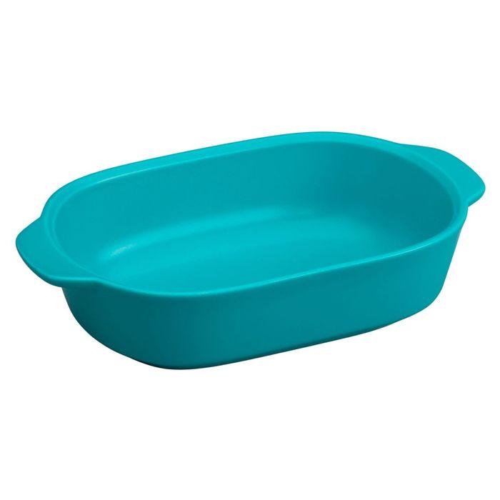 Форма для запекания прямоугольная, 1.4 л, синяя