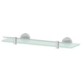 Полка с держателями, ширина 40 см, матовое стекло, хром