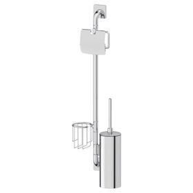 Штанга с тремя аксессуарами для туалета 77 см, хром, ELLUX