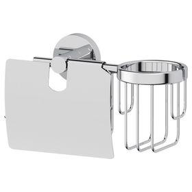 Держатель туалетной бумаги с крышкой и освежителя воздуха, хром, ARTWELLE
