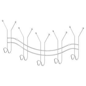 Планка с пятью двойными крючками-вешалками 50,5 см, хром