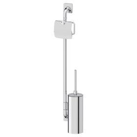 Штанга с двумя аксессуарами для туалета 77 см, хром, ELLUX
