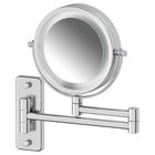 Косметическое зеркало двустороннее с подсветкой x3, хром, DEFESTO