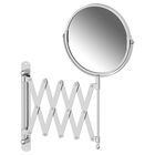 Косметическое зеркало двустороннее x2, хром, SORCOSA