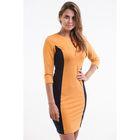 Платье-футляр женское цвет горчичный, р-р 44
