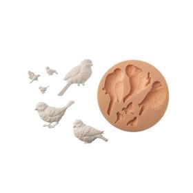 "Mold for polymer clay ""birds"" 5,5x2,5 cm"