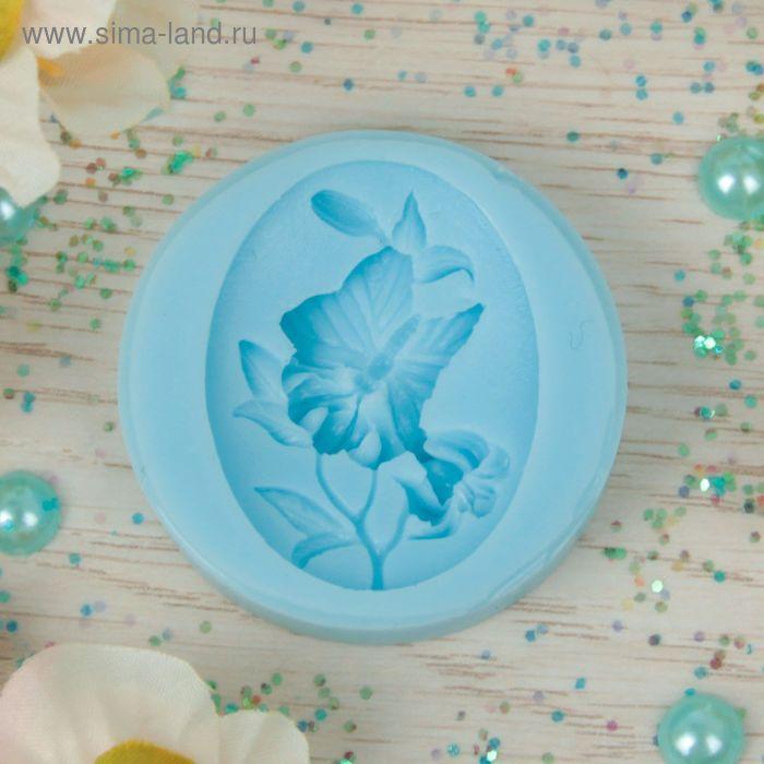 """Молд силикон для полимерной глины №156 """"Бабочка на цветке"""" 4х3 см"""