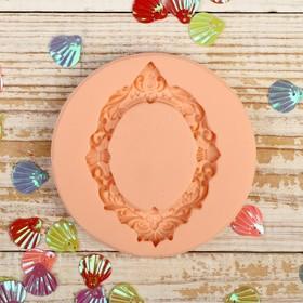 Молд силикон для полимерной глины №318 'Рамочка цветочная' 7,5х5,5 см Ош