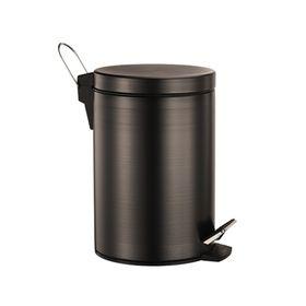 Ведро для мусора Wasser Kraft, 5 л, цвет тёмная бронза, с микролифтом 2368179