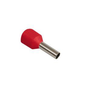 Наконечник-гильза IEK Е1508, 1.5 кв.мм, изолированный, уп. 100 шт, UGN10-D15-03-08