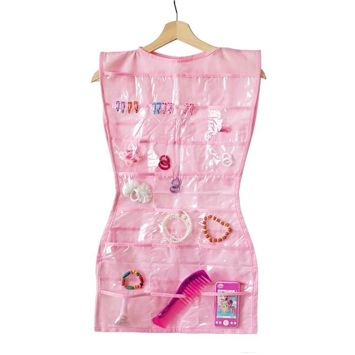Органайзер-платье для украшений, цвет розовый