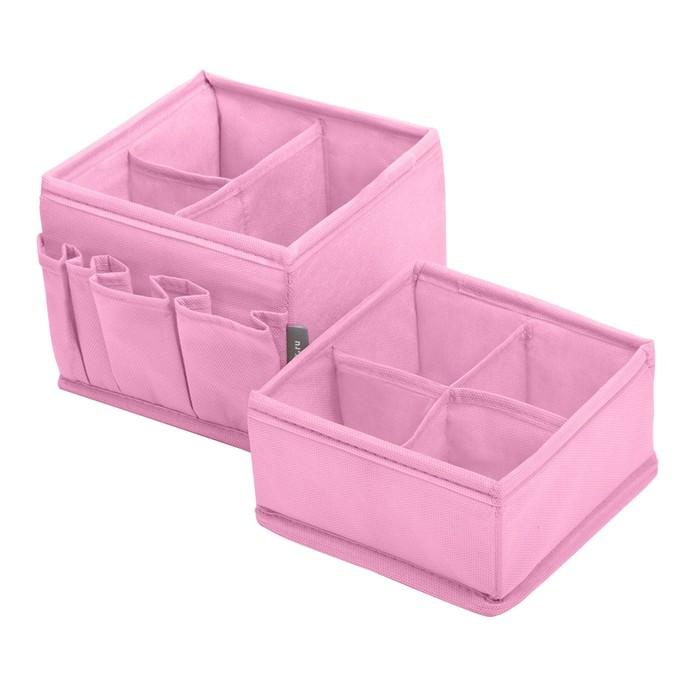Набор органайзеров для косметики 2 шт, цвет розовый