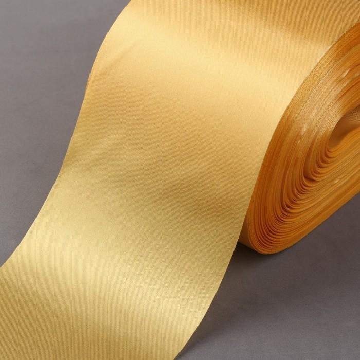 Лента атласная, 100 мм × 100 ± 5 м, цвет золотой