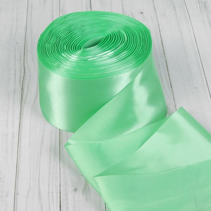 Лента атласная, 100 мм, 100±5 м, цвет мятный