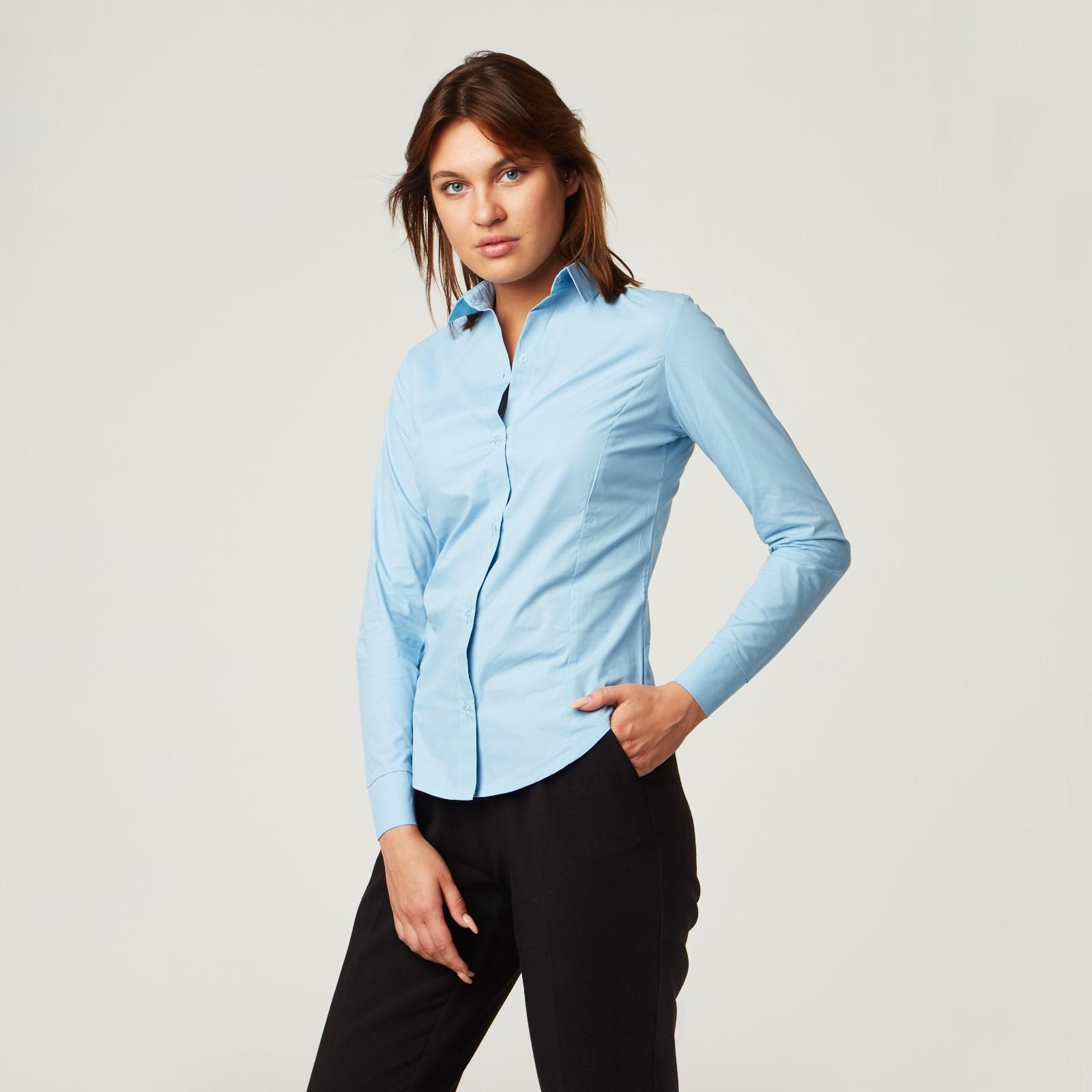 3fccbdce91b0 Рубашка женская с рельефами, размер 40, голубой, хлопок 100 ...