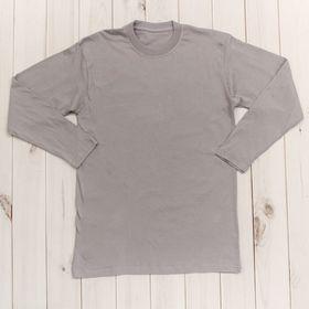 Джемпер (футболка) с длинными рукавами цвет серый, размер S