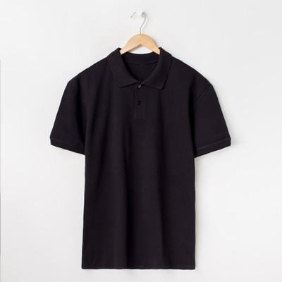 Футболка поло мужская, цвет чёрный, размер 48 (M)