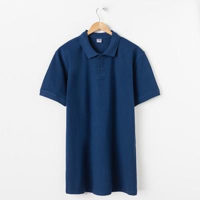 Футболка мужская поло цвет синий, р-р 48 (m)