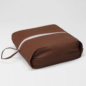 Сумка для обуви, 37*10*16, отдел на молнии, коричневый Ош