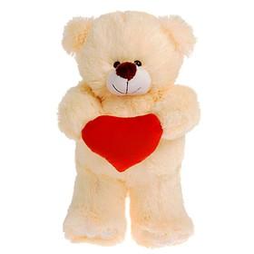 Мягкая игрушка «Медведь с сердцем», 30 см, цвет МИКС