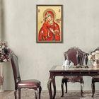 """Гобелен-икона """"Богородица Феодоровская"""""""